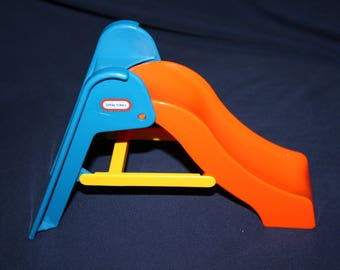 Little Tikes Doll House Size Toys Playground Outdoor Furniture Yellow Blue  And Orange Slide