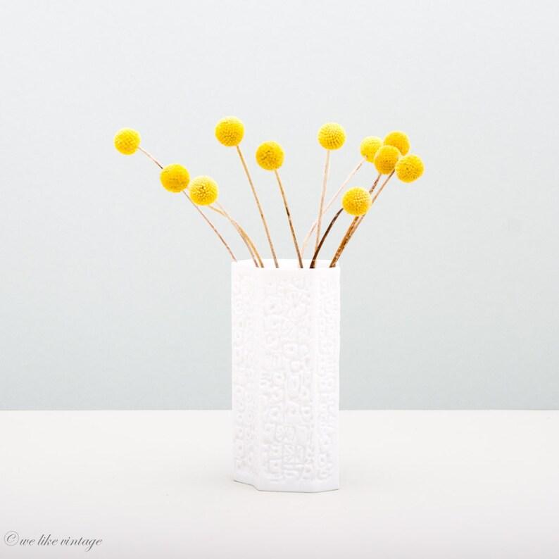 White Bisque Vase by Hutschenreuther Germany Op Art Vase image 0