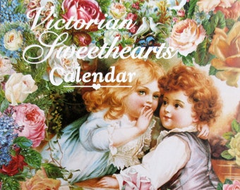 Beautiful Vintage Victorian Sweethearts Calendar - 1995, Pristine, never written in, Lovely Victorian art on every page