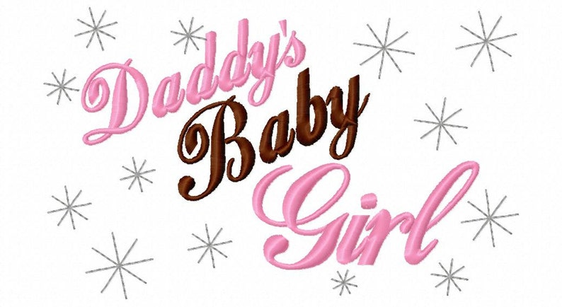 451078aa85f77 Girl Embroidery Design Daddy's Baby Girl Machiene Embroidery Saying 4x4 5x7  6x10 hoop Instant Download