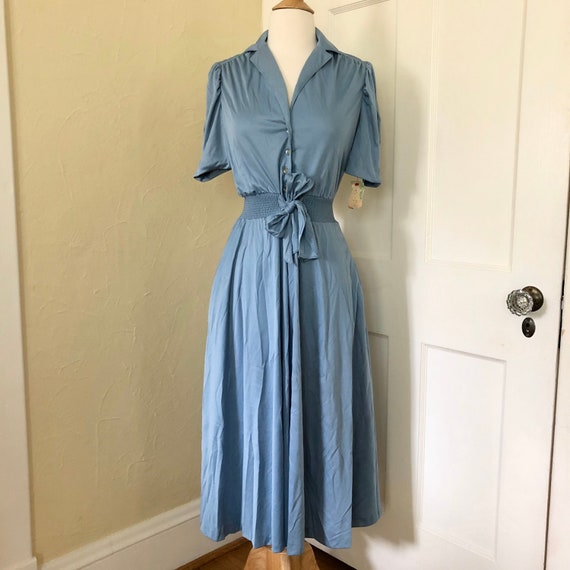New Old Stock Jody T of California Blue Polyester