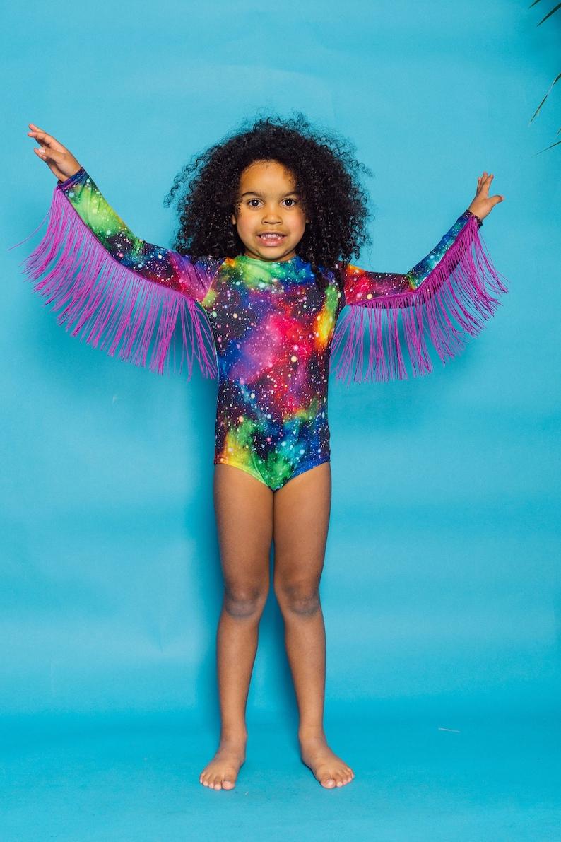 KIDS Fringe Bodysuit in Cosmic by Get Crooked