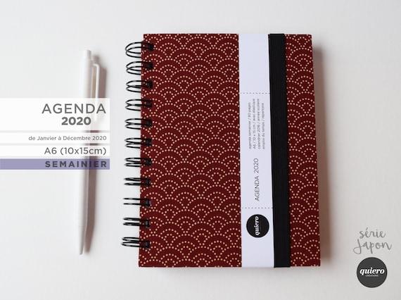 Agenda 2020 semainier A6 Rouge.