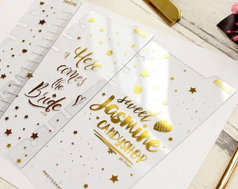 Set of 3,Golden Words Planner dividers, planner Dashboard, Today/Week/Month dividers,planner dividers, Planner Inserts