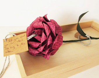 Will You Marry Me? Personalised Origami Proposal Rose