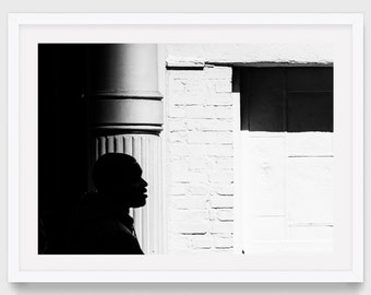 New York Street Photography, Black and White Silhouette in SoHo, NYC Art Print, Original Photography, Contemporary Photography