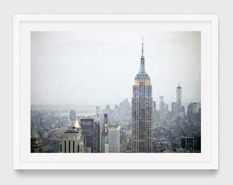 New York Photography, Empire State Building at Sunset, NYC Skyline Art Print, Urban Home Decor, Large Manhattan Wall Art