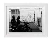 Paris Street Photography, Black and White Paris Print, Street Art Print, Paris Photography, Paris Gift, Anniversary Gift, Love Art