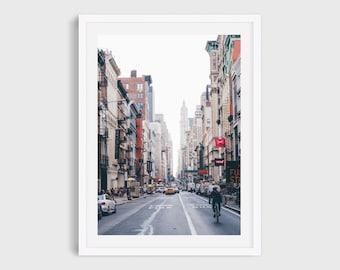 SoHo New York Street Photography, New York Wall Art, NYC Architecture Print, Large Wall Art, Urban Art Print, Living Room Art
