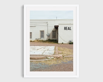 Marfa Texas Print, Texas Photography, West Texas Landscape Art, Texas Architecture Art, Industrial Wall Art, Marfa Photography
