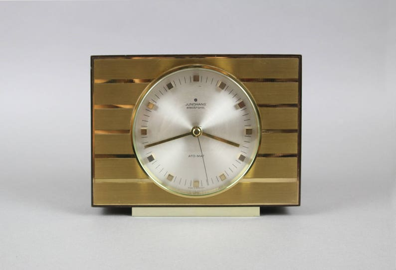 Vintage Junghans Uhr Goldene Junghans Uhr Ato Mat Tischuhr Etsy