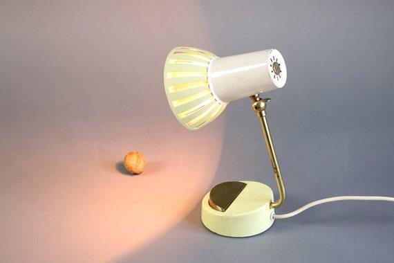 lampe de chevet vintage lampe jaune dor e lampe ann es 60 etsy. Black Bedroom Furniture Sets. Home Design Ideas