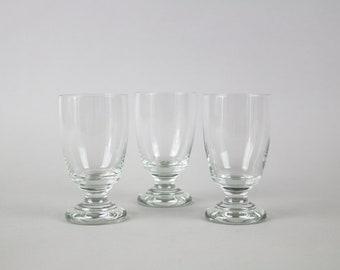 Vintage wine glasses, 50s french wine glass, set of 3 glasses, hand blown, Apero glasses, bistro, aperitif glasses, Mid-Century Modern