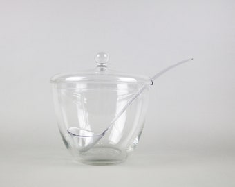 Vintage punch bowl, 60s glass pot, punch bowl, crystal glass, glass container, summer punch, glass carafe, cocktail party, Mid Century