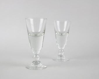 Vintage wine glasses, 50s french wine glass, set of 2 glasses, Apero glasses, bistro, aperitif glasses, Mid-Century Modern