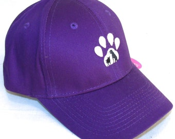 cf2f3d7b8 Paw Print Pet Adoption Dog Cat Monogram Baseball Hat Rescue Awareness Pet Animal  Shelter Custom Embroidered Cap