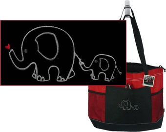 African Lions /& Elephants Messenger Bag Personalized