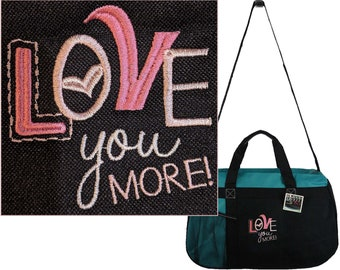 Love You More Gemline Sequel Sport Overnight Travel Bag Custom Embroidered  Duffel 3434681fe5b24