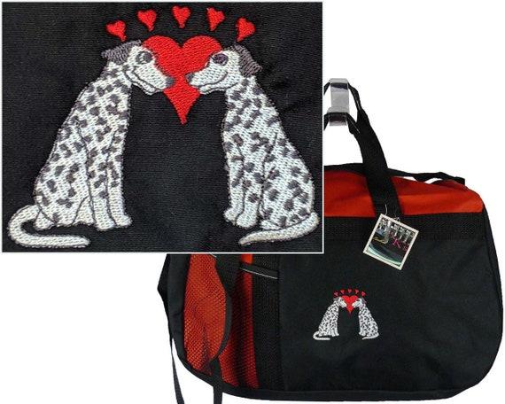380074afe61e Cute Dalmatians & Hearts Monogram Gym Bag Gemline Sequel Travel ...