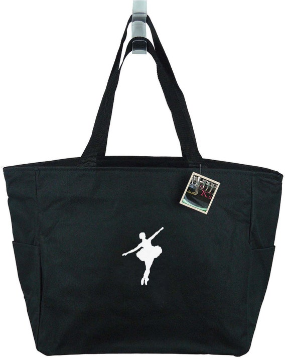 Personalized Dance Ballet Embroidered Zippered Tote Bag