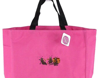 Picnic Ants Monogram Bag Hot Pink READY TO SHIP! Watermelon Sandwich Apple Custom Embroidered Cute Essential Tote