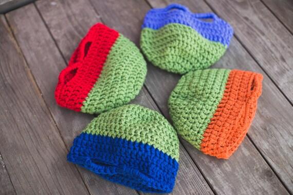 Crochet Pattern Teenage Mutant Ninja Turtles Hat Pattern Etsy