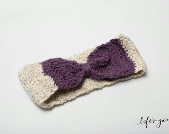 Crochet Pattern Ripple Bow Ear Warmer Pattern. Instant Digital download CP102RBE
