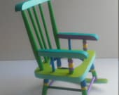 Hand painted wooden toy rocking chair