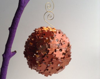 Copper/Painted jigsaw Puzzle Ornaments