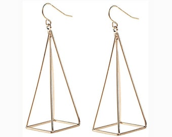 Pyramid Earrings / Statement Earrings / FREE SHIPPING