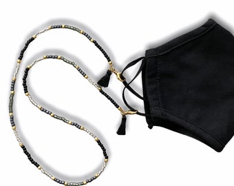 Black Storm Face Mask and Eyeglasses Chain