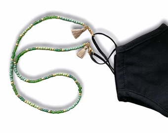 Goblin Green Face Mask and Eyeglasses Chain
