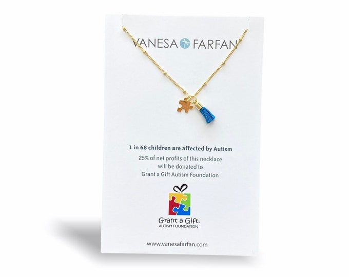 Featured listing image: AUTISM Awareness Necklace | 25% profit donated to Grant a Gift Autism Foundation