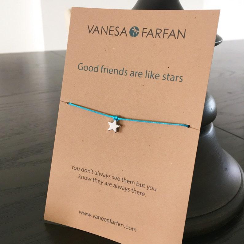 84016f281b62 Pulsera de la amistad buenos amigos son como estrellas plata