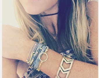 BEST SELLER / BOHO Wrap Bracelet / Necklace - Available in 16 Colors - Silver or Gold