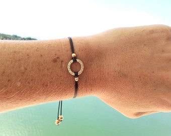 Girls Friendship Bracelet Infinity Circle, Small Circle, Wish Bracelet, for Kids, Girls and Women, Adjustable, 16 Colors