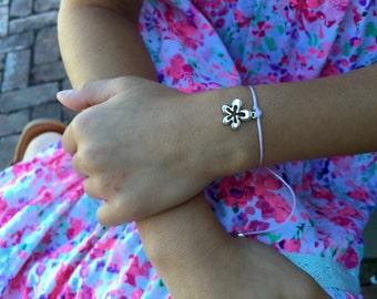 Girls Friendship Bracelet, Flower Power, For Kids, Girls and Women, Adjustable, 16 Colors