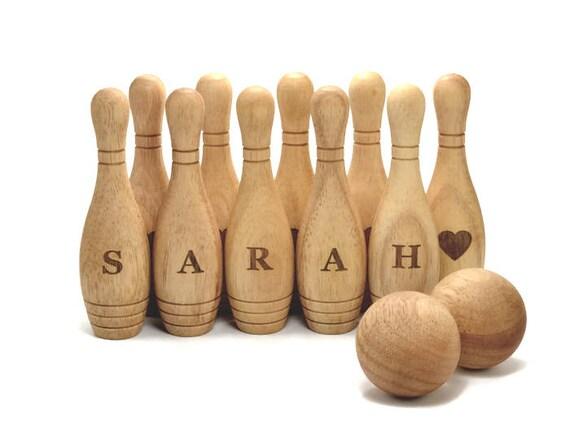 En bois Bowling jeu Set Montessori bois jouet éco-cadeau personnalisé pour un jouet en bois enfant en bas âge pour les jouets en bois bébé bébé personnalisé