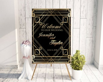 great gatsby sign gatsby gatsby hen party gatsby bridal shower prohibition party prohibition era art deco sign large wedding sign