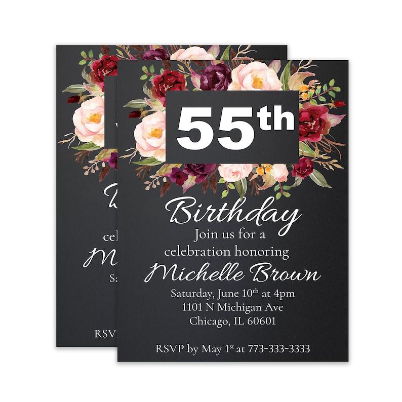 55th Birthday 55 Party Fiftieth