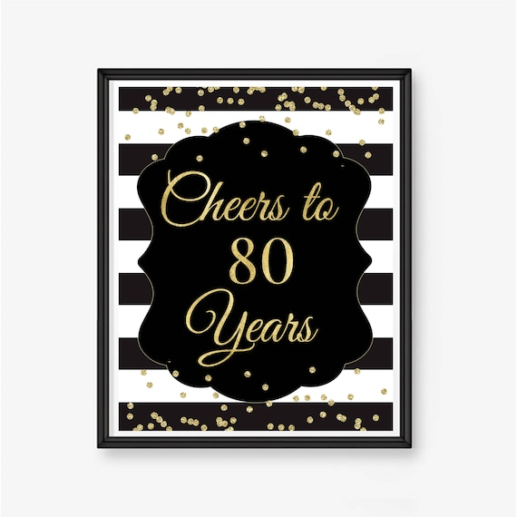 Cheers Aan 80 Jaar 80e Verjaardag 80ste Verjaardag Teken 80ste Verjaardag Decor 80ste Gift Van De Verjaardag Tachtig Verjaardag Gepersonaliseerde