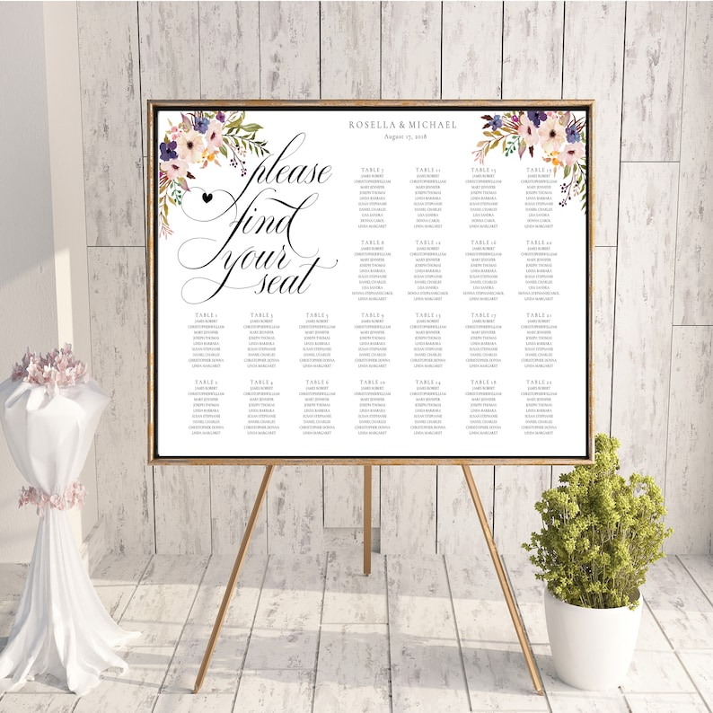 bridal shower seating chart template.html