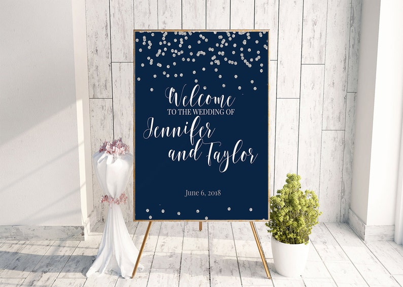 Awesome Winter Wedding Decor Silver Foil Print Large Wedding Sign Diy Welcome Sign Reception Signage Sparkly Sign Boho Wedding Sign Wedding Download Free Architecture Designs Remcamadebymaigaardcom