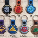 Wizard 101 Custom Embroidered Keychain.   ** You choose your School! **