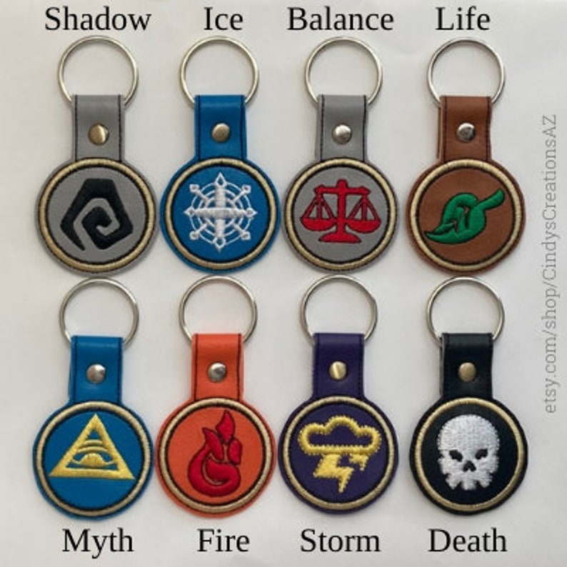Wizard 101 Custom Embroidered Keychain.    You choose your image 1