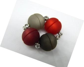 34 Stück XL Original POLARIS Perlen 14mm groß alle Farben MIX bunt