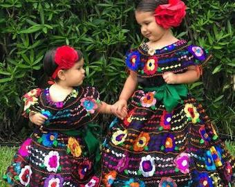 4fbd5e4b57a2 Girls mexican dress