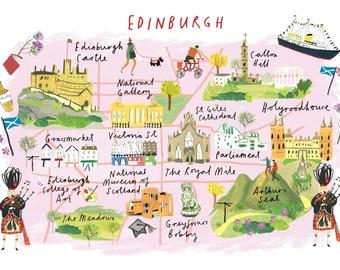 Edinburgh map | Etsy