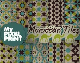 Piastrelle marocchine blu marrone verde viaggi esotici etsy