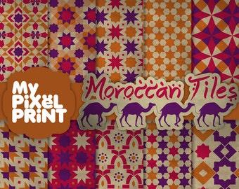 Piastrelle marocchine giallo blu rosso arabo modelli etsy